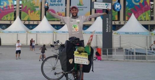 Hugh completes Ride2Rio and raises £20k