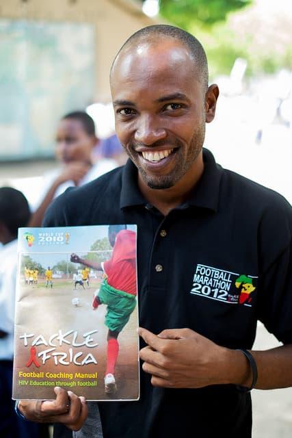 TackleAfrica Coach Omari Mandari in Tanzania