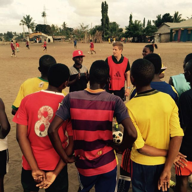 Delivering a TackleAfrica session