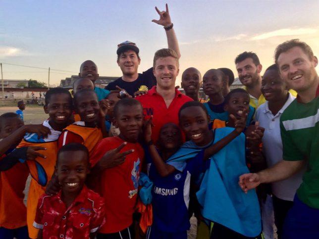 UK volunteer coaches and their Tanzania team