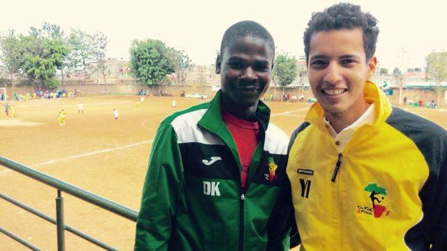 Mandela (left) in interview mode with Othman