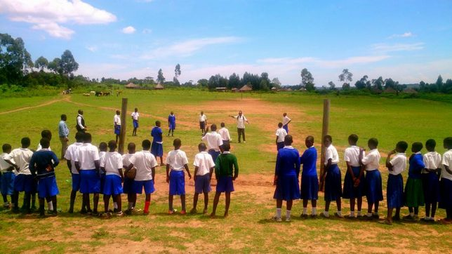 Girls in Tarima distric, Mara region, Tanzania try out a new TackleAfrica drill aimed at combating Child Marriage and FGM