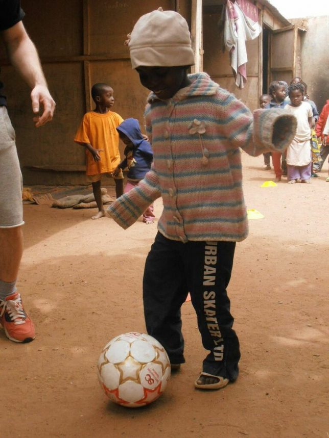 We use the popularity of football to attract young people to our programmes