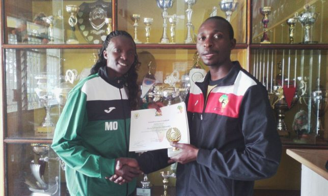 Mary Adhiambo, six years with TackleAfrica, level 3 graduate, facilitator, coach of the Kenyan national team!