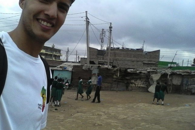 Othman visits Mathare, the community in which he'll be working through our partner MYSA