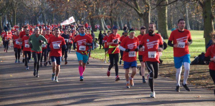 Run the Red Run for TackleAfrica on World AIDS Day